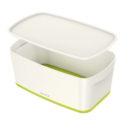 Leitz Mybox Small With Lid White/Green