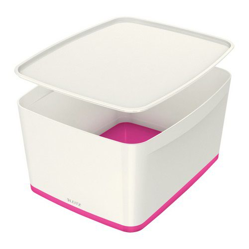 Leitz Mybox Large With Lid White/Pink