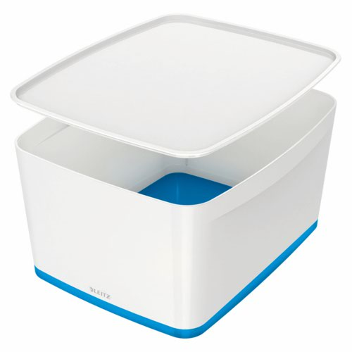 Leitz Mybox Large With Lid White/Blue