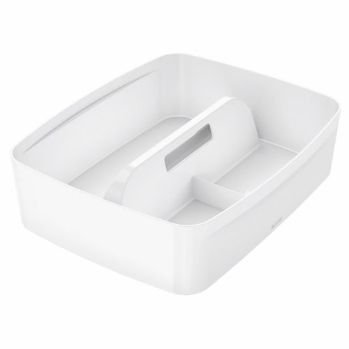 Leitz Mybox Organizer Tray With Handle Large White