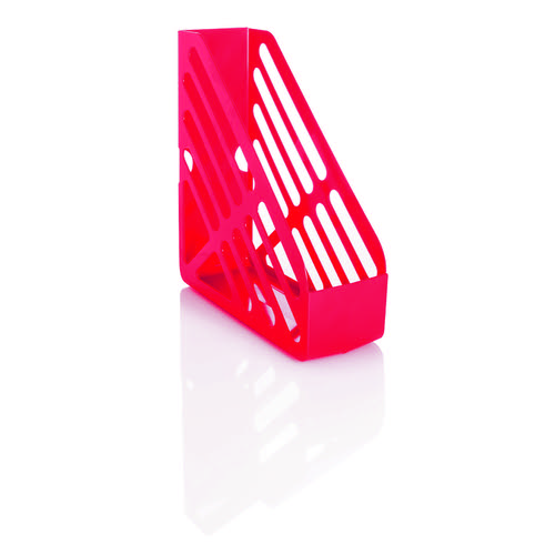 Basic Magazine Rack File Foolscap Red