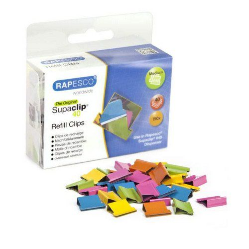 Rapesco Supaclip No.40 Refill Clips Pack 100 x Hearts