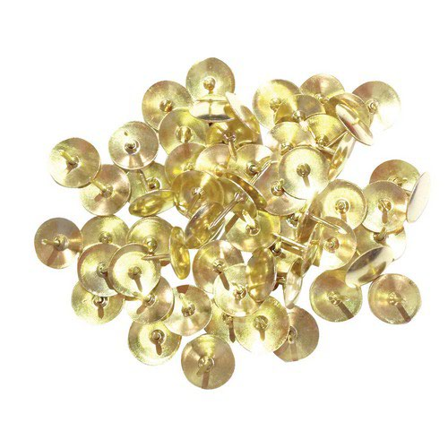 Clipper Drawing Pins Brass Plated Box Pack 100