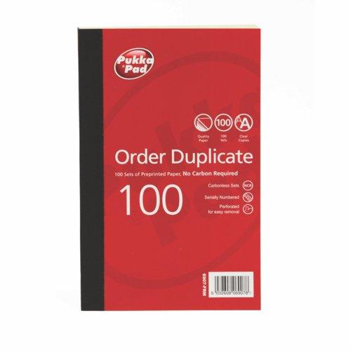 Pukka Order Duplicate Book 210 X 130mm