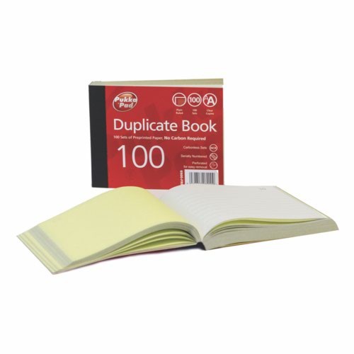 Pukka Plain Ruled Duplicate Book 106 X 130mm