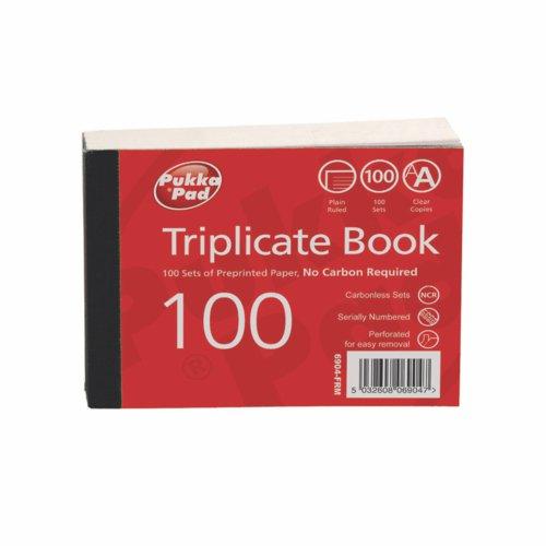 Pukka Plain Triplicate Book 105 X 130mm