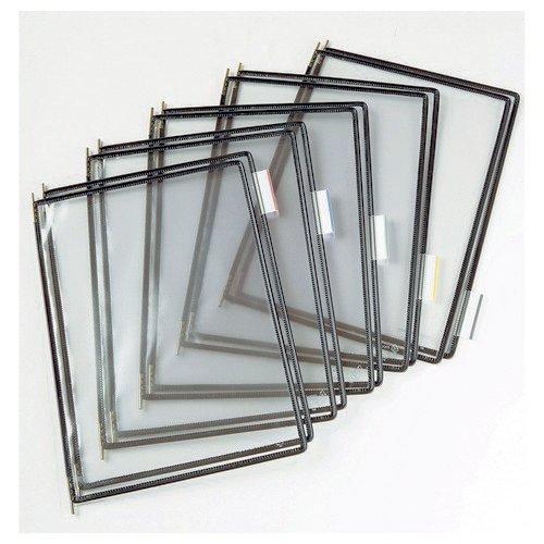 Tarifold A4 Pivoting Pockets Black Pack 10