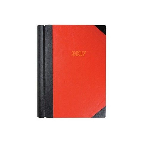 Collins Luxury Desk Diary 2 Page Per Day Black & Red