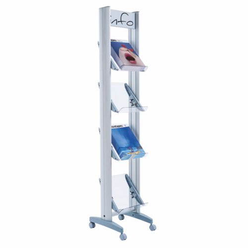 Fast Paper Corner A4 Plexiglass 4 Shelf Display F2432TT35