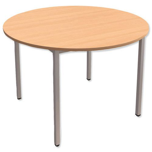 Trexus 1200mm Circular Table Slv Frm Bch
