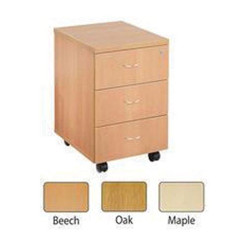 Jemini Oak 3 Drawer Mobile Pedestal KF72085