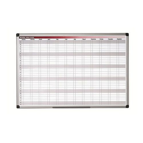Bi- Silque All Purpose Planner Gridded 1200 X 900 New Generation Frame Magnetic Dry Wipe Board