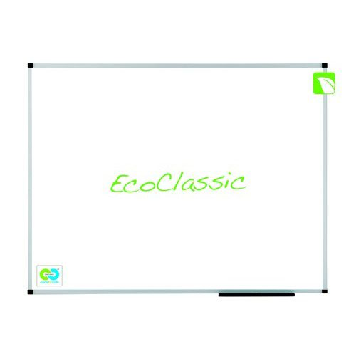 Nobo Prestige Enamel Eco Whiteboard Magnetic Fixings Included W600xH450mm White