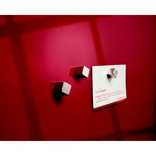 Sigel Designer Magnetic Cube Extra-Strong Holds Up To 8 Sheets Of A4 Paper 10x10x10mm
