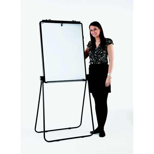 Adboards Excellence Height Adjustable Magnetic Flip Chart Black