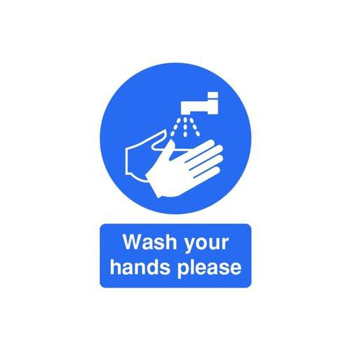 Now Wash Your Hands 210x148 Self Adhesive Vinyl