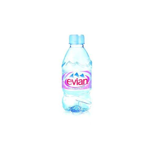 Evian Natural Mineral Water Bottle Plastic 330ml Pack 24