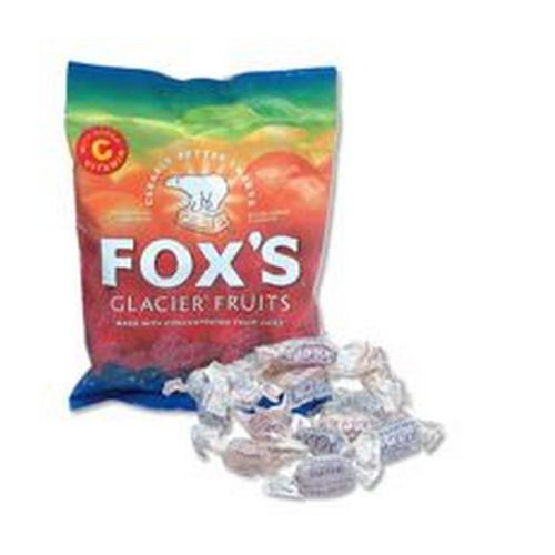 Foxs Glacier Fruits Wrapped Boiled Sweets in Bag 200g Pack 12
