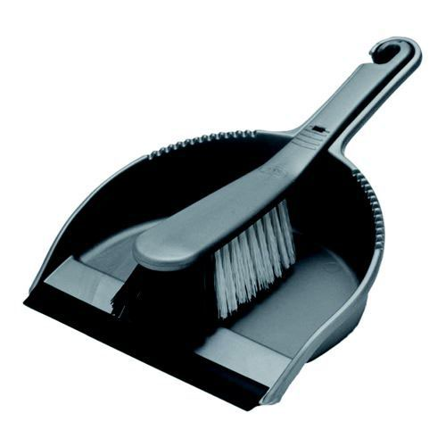 Addis Soft Dustpan Set Metallic