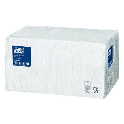 Tork Lunch Napkin 1 Ply 4 Fold White Pack 556