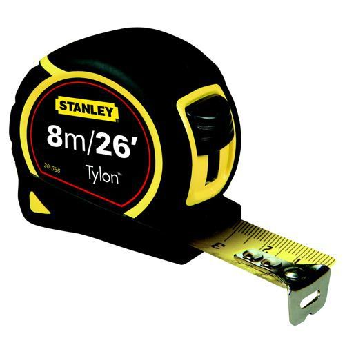 Stanley Tape Measure Pocket 8m/26 Feet Tylon