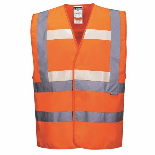 Triple Safety Vest S - XXXL Orange/Yellow