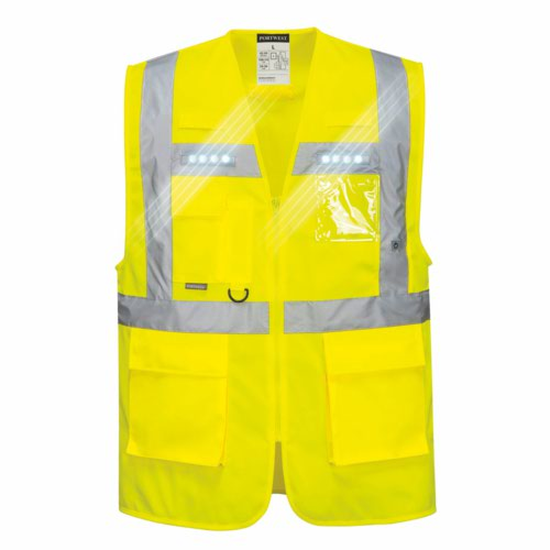 LED Class 2 Orion Led Executive Vest Small XXL Yellow Or Orange