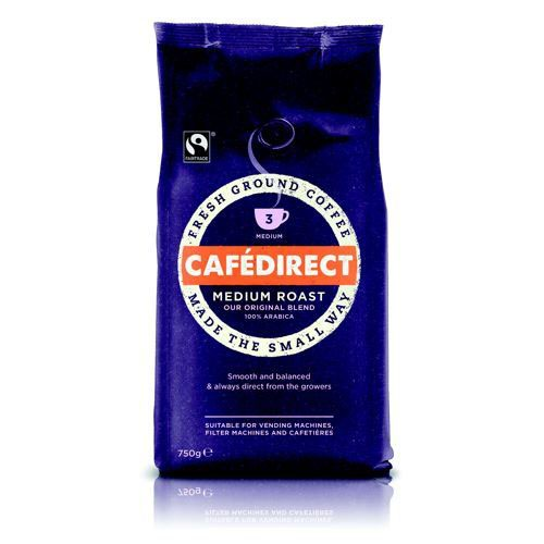 Cafe Fairtrade Roast Ground Coffee 750g
