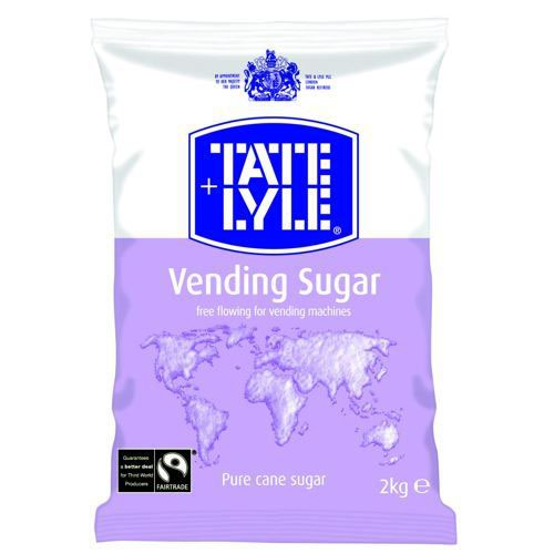 Tate and Lyle Vending Sugar Bulk Vending Bag for Dispensing Machine 2kg