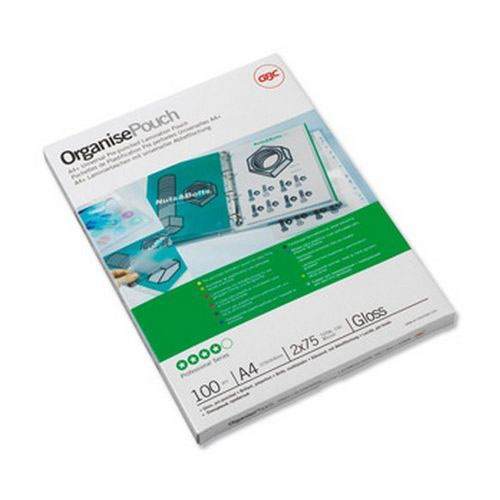 GBC Glossy Laminating Pouch A4 2x125 Pack 100