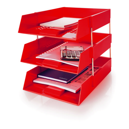 Initiative Letter Tray Red