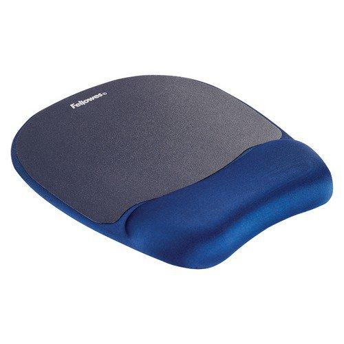Fellowes Foam Mousepad Wrist Support Blue