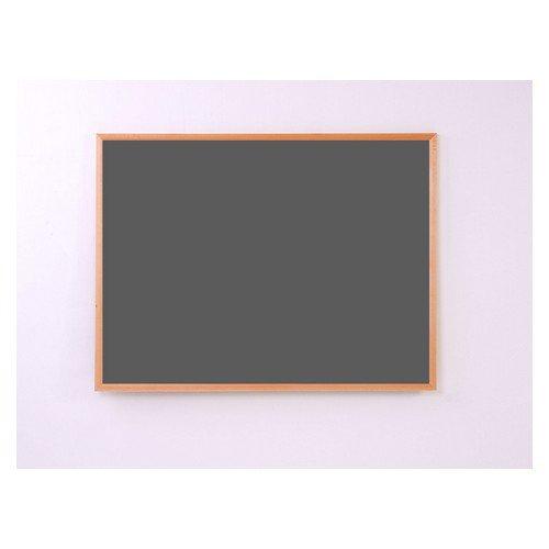 Eco-Sound Light Oak MDF Wood Frame 900w x 600h Noticeboard Black