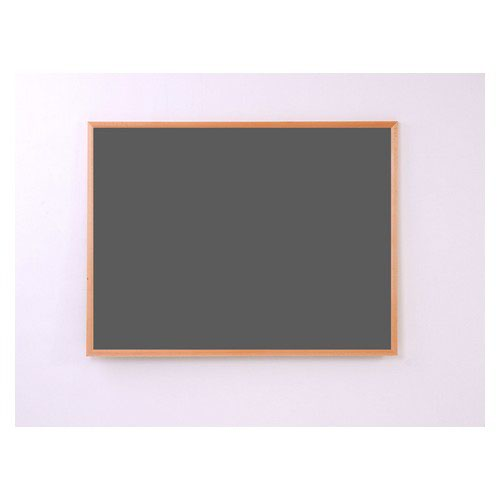 Eco-Sound Light Oak MDF Wood Frame 1200w x 900h Noticeboard Black