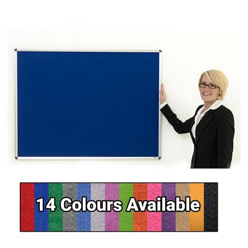 Eco-Sound Aluminium Framed 900w x 600h Noticeboard Blue