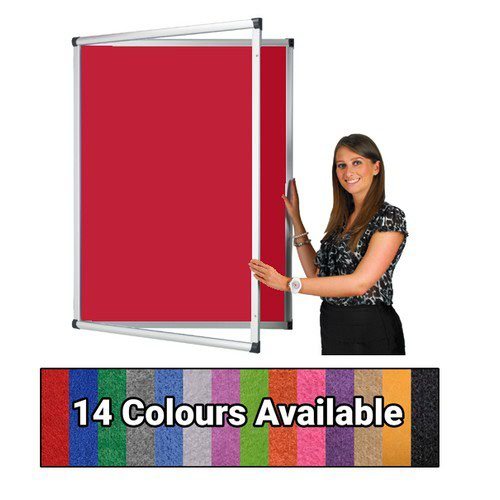 Eco-Sound Tamperproof Blazemaster 900w x 600h Noticeboard Red