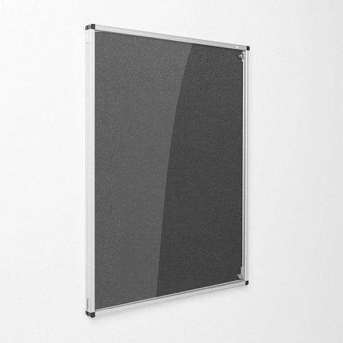 Eco-Sound Tamperproof Blazemaster 900w x 600h Noticeboard Black