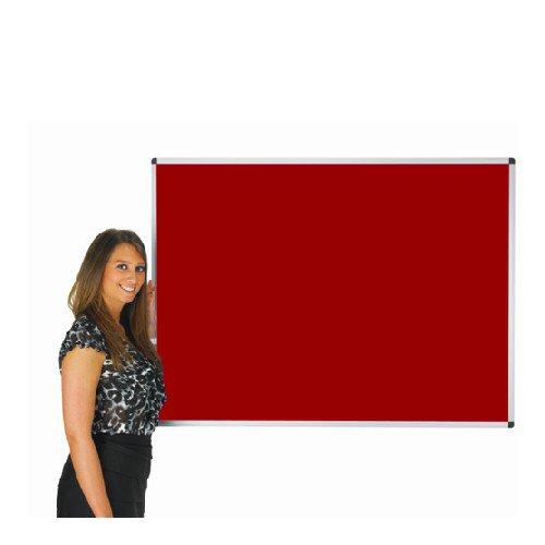 Adboards Deluxe Aluminium Frame Noticeboard 900x600 Red