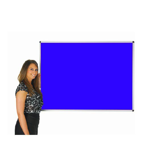 Adboards Deluxe Aluminium Frame Noticeboard 1200x900 Blue