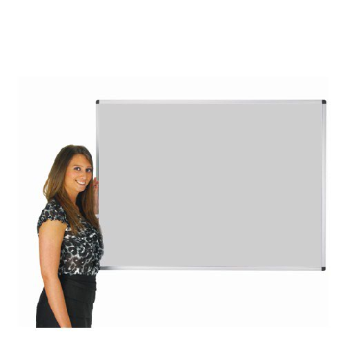 Adboards Deluxe Aluminium Frame Noticeboard 1800x1200 Grey