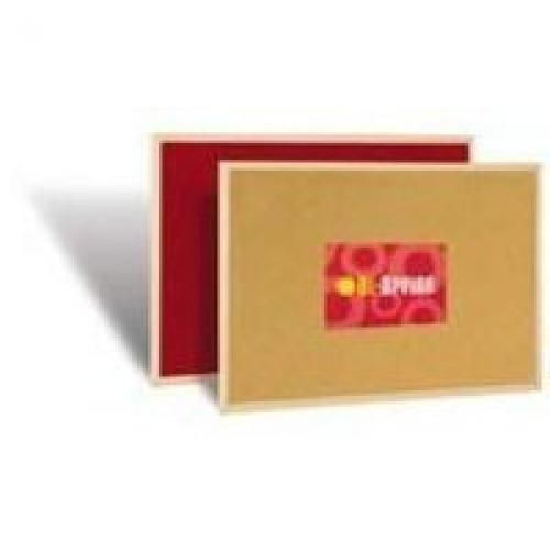 Red Felt/Cork Double Sided Board 900x600mm Supplied With Wall Mounting Kit