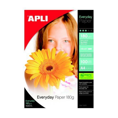 Apli Everyday Glossy Photo Paper A4 100 Sheets