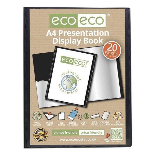 Eco A4 50% Recycled 20 Pocket Presentation Display Book