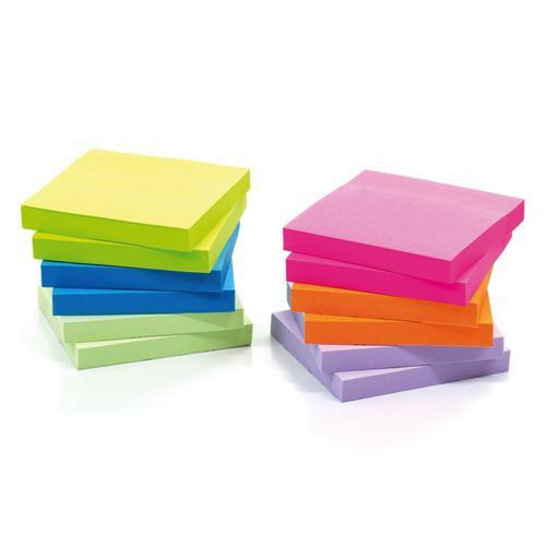Initiative Z-Notes Assorted Neons 76x 76