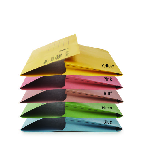 Initiative Document Wallet Foolscap Medium Weight 285gsm Assorted Pack 50