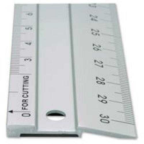 Linex Hobby Cutting Ruler Anti-Slip Light Aluminium 1 Bevelled Side 1 Plain Side 50cm