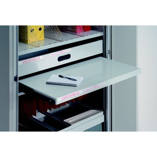 Bisley Roll Out Reference Shelf Black