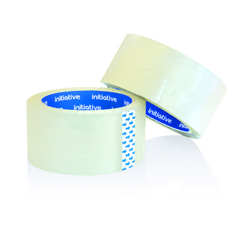 Initiative Polypropylene Packaging Tape 48mm x 66m Clear Pack of 6