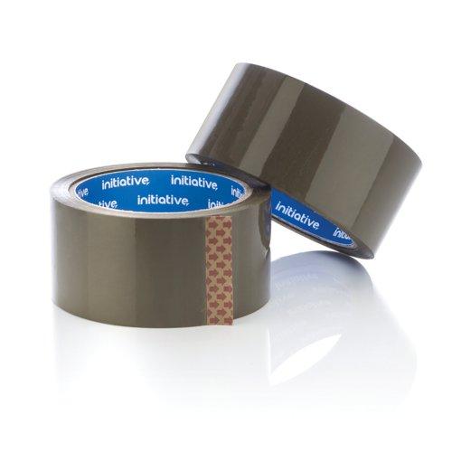 Initiative Polypropylene Packaging Tape 48mm x 66M Buff Low Noise