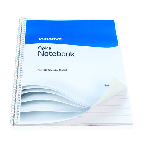 Initiative Spiral Notebook Ruled A4 100 Pages 60gsm
